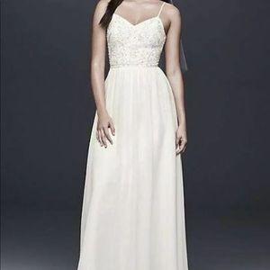 Beaded Ballerina Bodice Sheath Wedding Dress